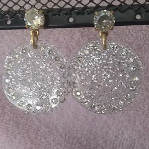 Sparkly Disc Earrings
